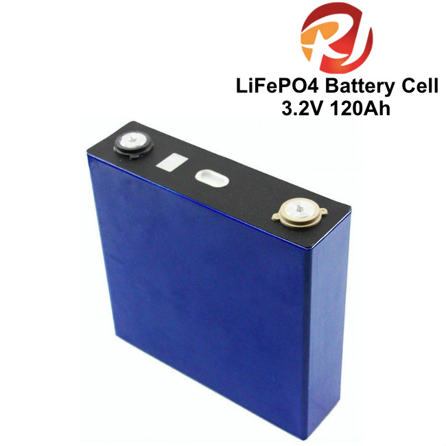 Deep Cycle life 3.2V 120Ah LiFePO4 Battery Cell Prismatic For Solar / Wind Power Energy Storage